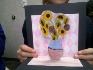ART with Mrs. Smith: Van Gogh Sunflowers- 3D