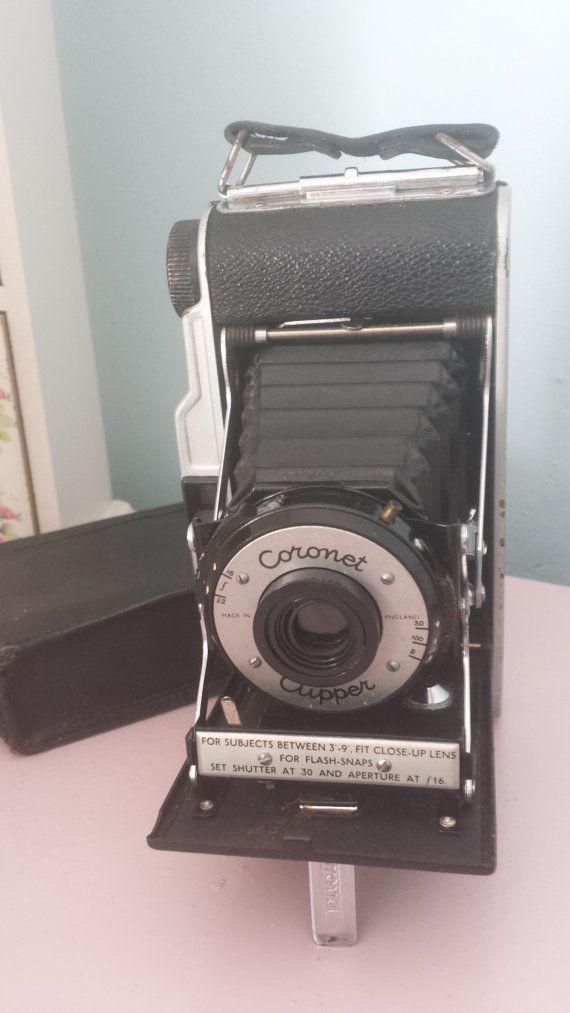 Vintage camera, Coronet Clipper folding camera.