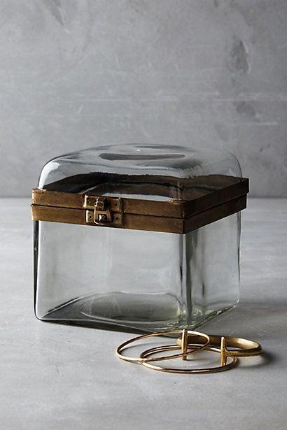 Smoky Glass Jewelry Box #anthropologie