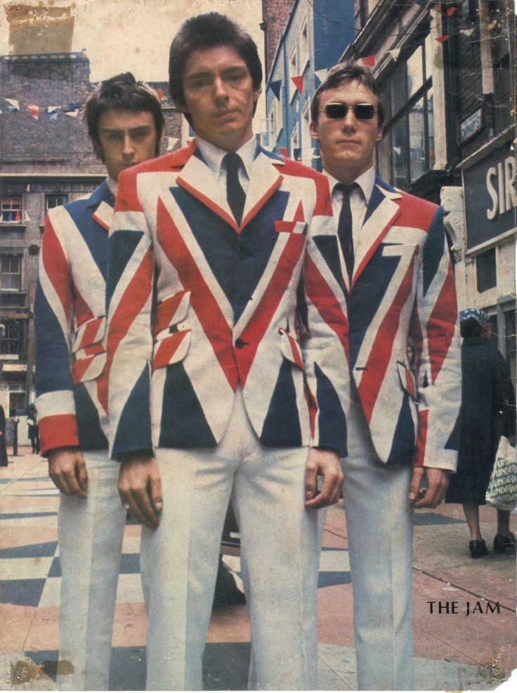 The Jam posing in Carnaby Street 1970's - inspired by The Who suits