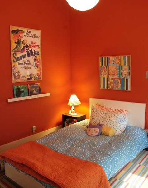 253 best orange in decor images on pinterest | orange rooms