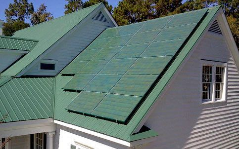 Colored Solar Panels are available that allow you to not sacrifice aesthetics for clean, green renewable energy