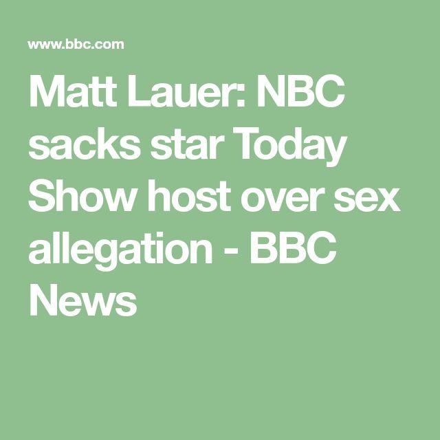 Matt Lauer: NBC sacks star Today Show host over sex allegation - BBC News
