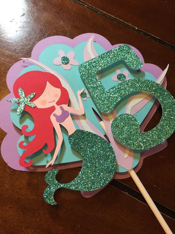 Mermaid cake topper. by HandcraftedByW on Etsy