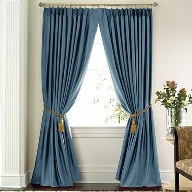 jcp home™ Supreme Thermal Pinch-Pleat Drapery Panel Pair in Dark Slate