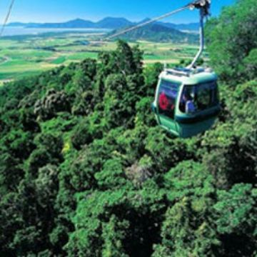 Sky train from Cairns to Karanda, Queensland, Australia.