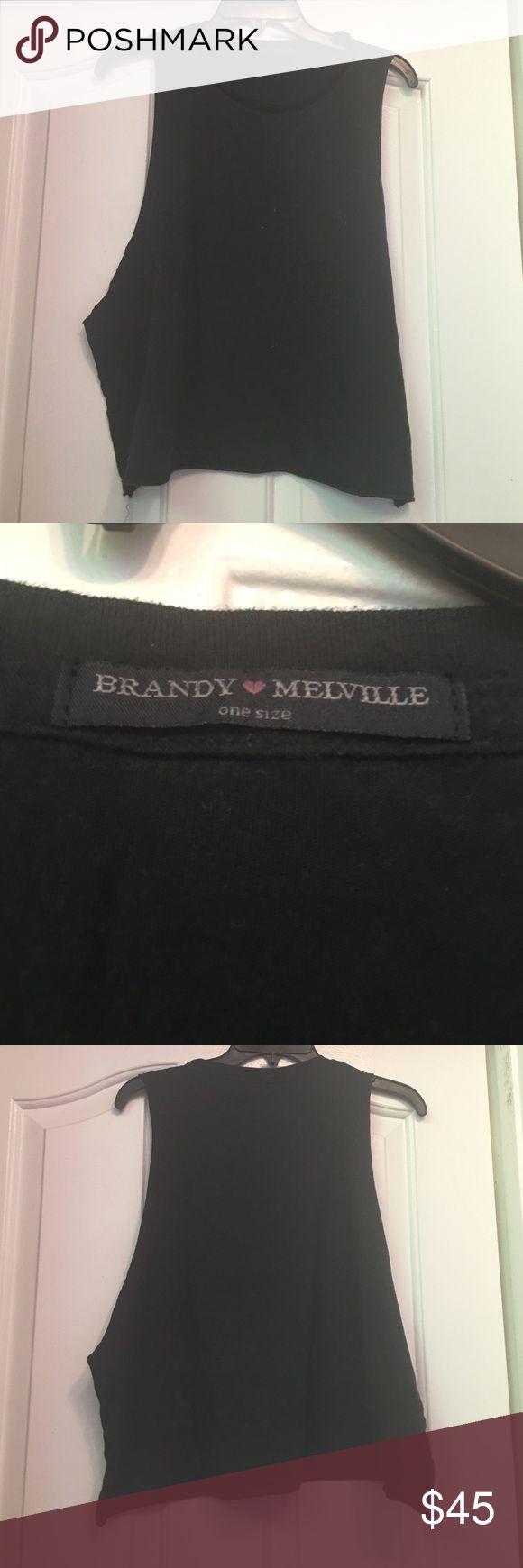 Fancy NWOT Brandy Melville Black Tank Top Size Small