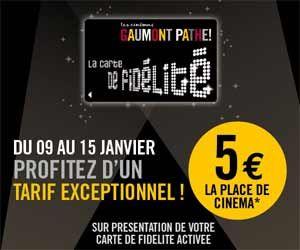 Places à 5 euros grâce à la carte de fidélité gratuite des cinémas Gaumont Pathé | Maxi Bons Plans