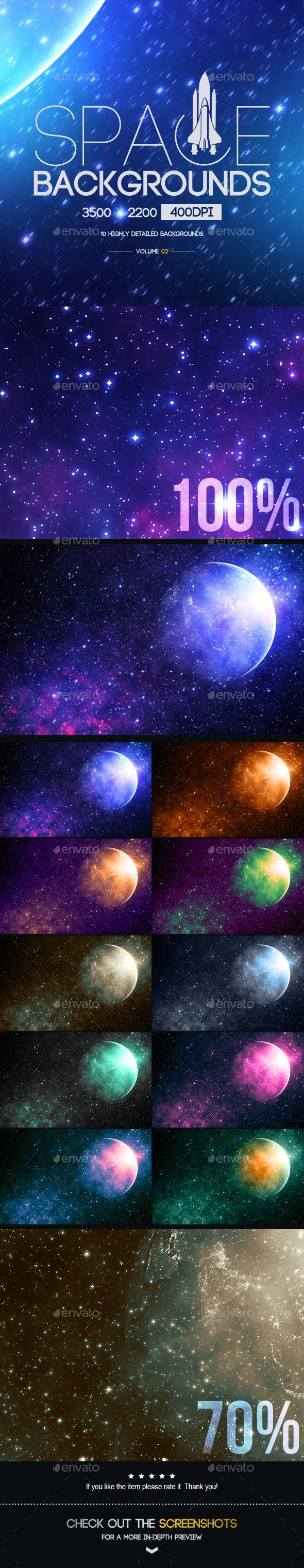 Space Backgrounds [Vol.2]