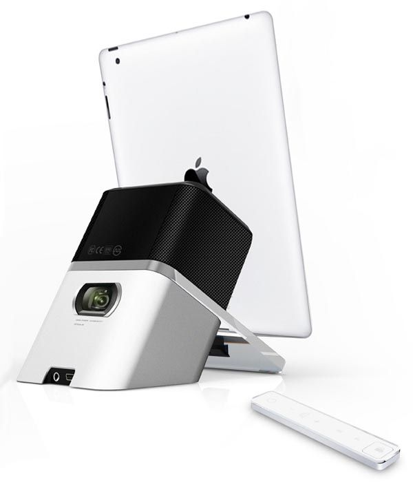iDelighted Dock Speaker with Pico Projector.