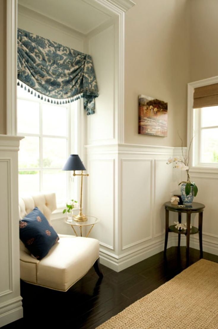 Wainscot solutions inc custom assembled wainscoting - White Wainscot Dark Floors