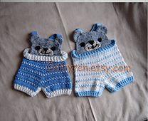 Peek-a-boo bear overalls