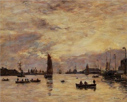 Le Havre. Avent Port. - Eugene Boudin