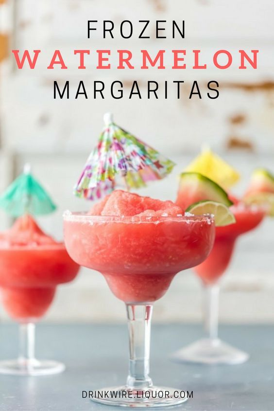 The Frozen Watermelon Margaritas You're Craving: Your favorite tequila drink tastes like summer, and it's ridiculously easy to make.