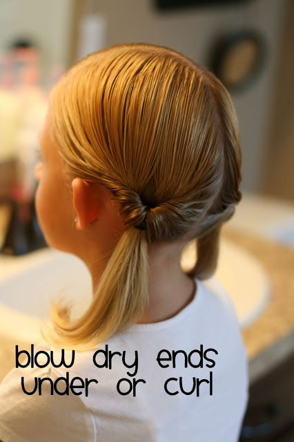 Hair Today: Summer Simple...Two Knotted Ponytails. little girl hair. Kapsel meisje vlecht