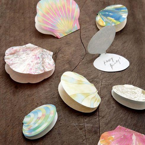 大切なメッセージを、美しい貝殻に乗せて。【shell memo card】|インテリアハック