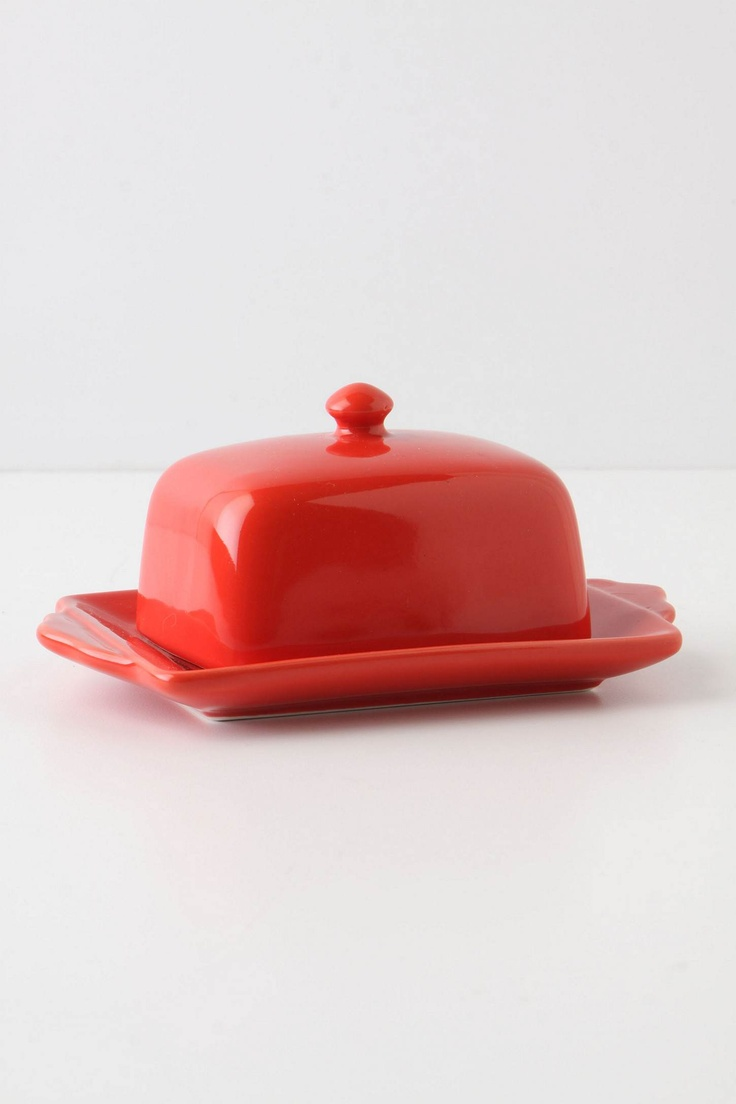Tea And Toast Butter Dish - Anthropologie: Decor Ideas, Little Red, Red Butter, Anthropology, Butterdish, Teas, Red Kitchens, Toast Butter, Butter Dishes
