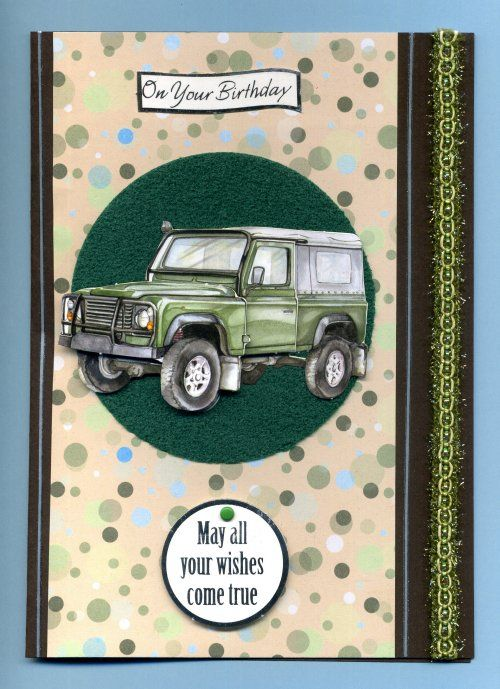 Birthday card for a Land Rover loving husband - quick and ...