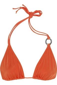 Diane von Furstenberg|Link embellished triangle bikini top|NET-A-PORTER.COM - StyleSays