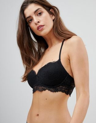05c40f7a5edf9 Gilly Hicks eyelash lace non wired push up bra