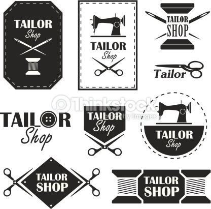Vector Art : Tailor shop
