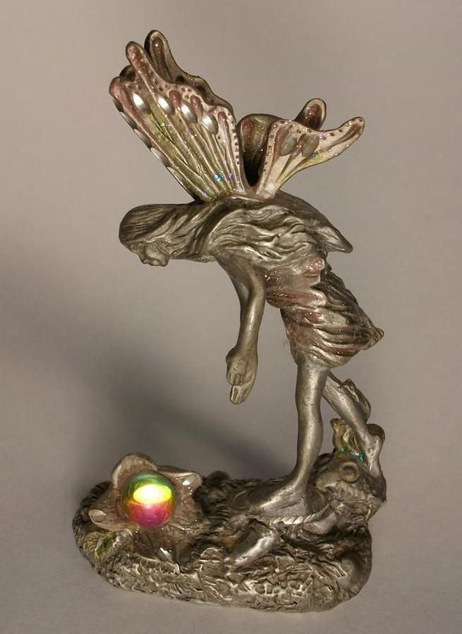 MWFP Masterworks Fine Pewter Fairy Standing On Mushrooms Michelle Phelps 1993 | eBay