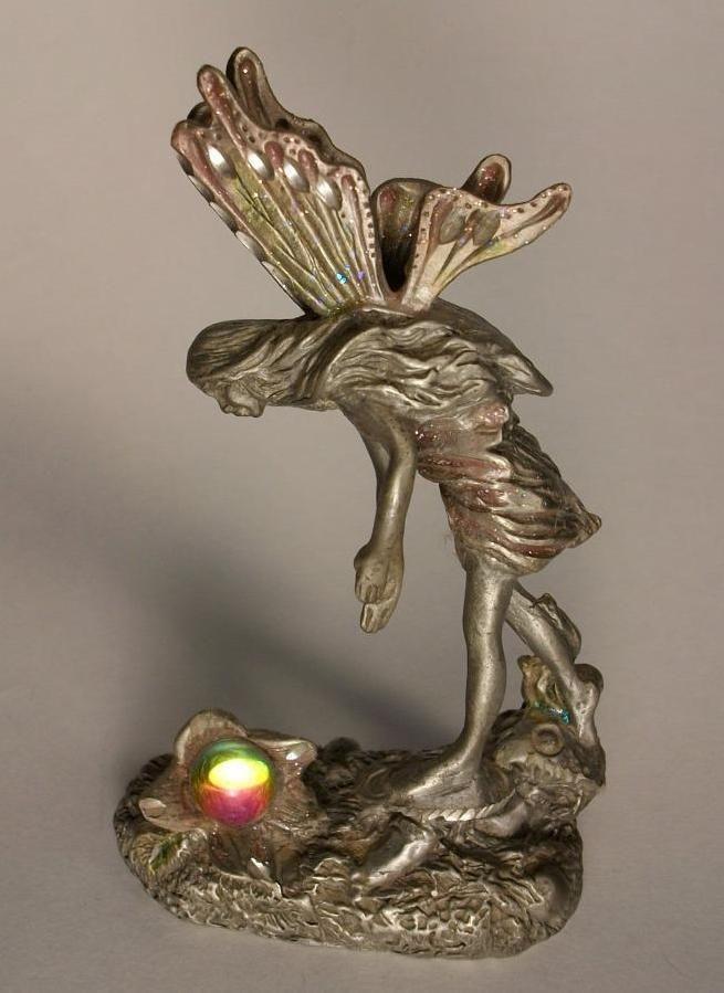 MWFP Masterworks Fine Pewter Fairy Standing On Mushrooms Michelle Phelps 1993 | eBay