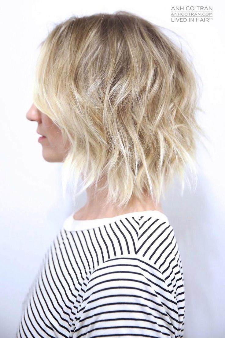 Cute short messy hairstyle, Anh Co Tran