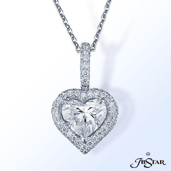 JB Star Heart Shape Diamond pendant
