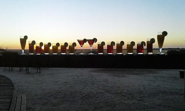 This is how we say 'pula' to another perfect day in the Kalahari!