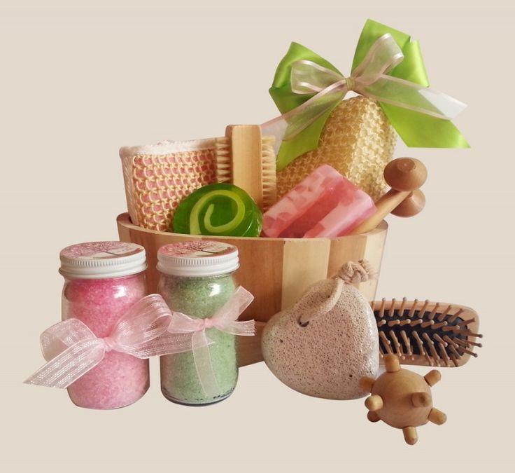 Set De Baño Para Souvenir:de glicerina decorados 1 Exfoliante para cuerpo 1 Sal de baño para