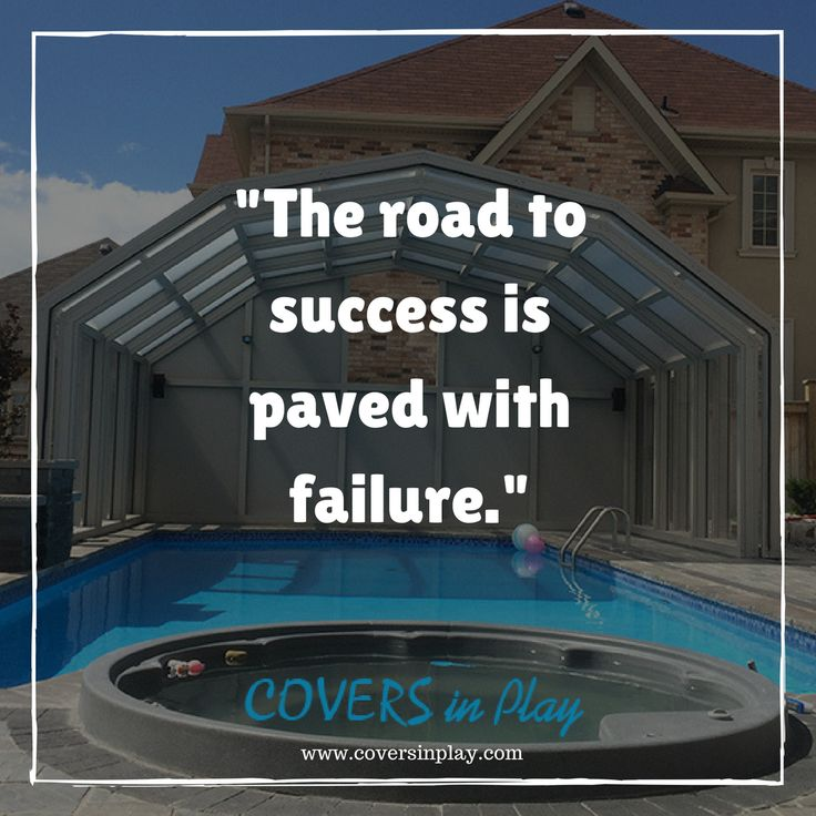 Do not fear mistakes. You will know failure. Continue to reach out. - Benjamin Franklin http://www.coversinplay.com  #PoolCover #PoolEnclosure #IndoorPools #PoolDesigns #SwimmingPool #GroundPool