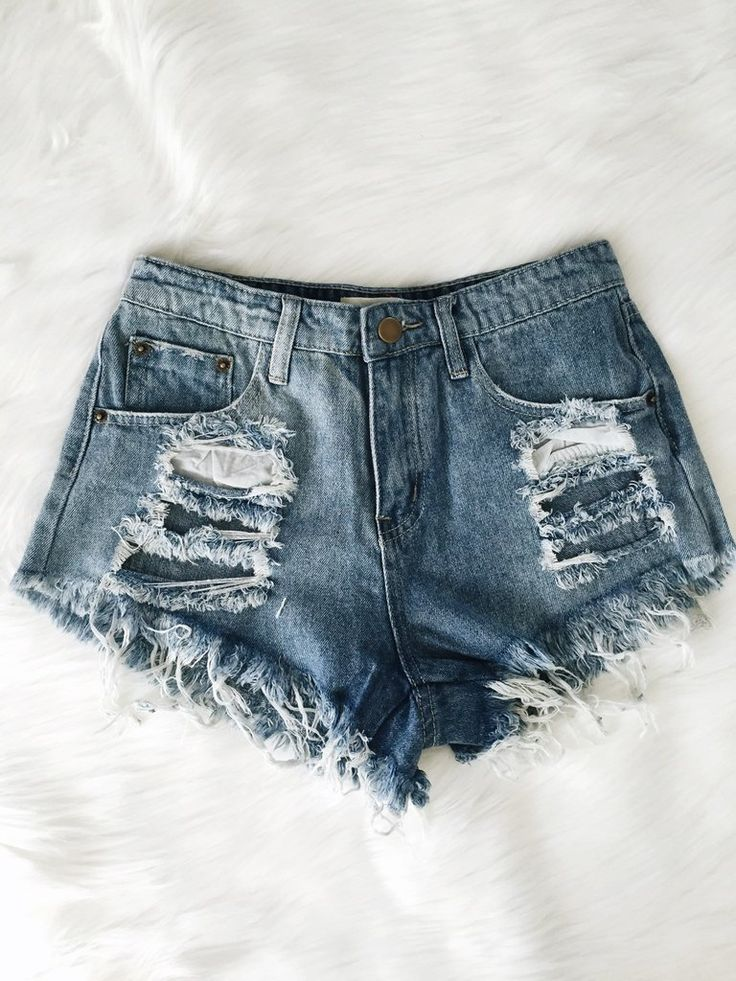 25  best ideas about Distressed shorts on Pinterest | High waisted ...