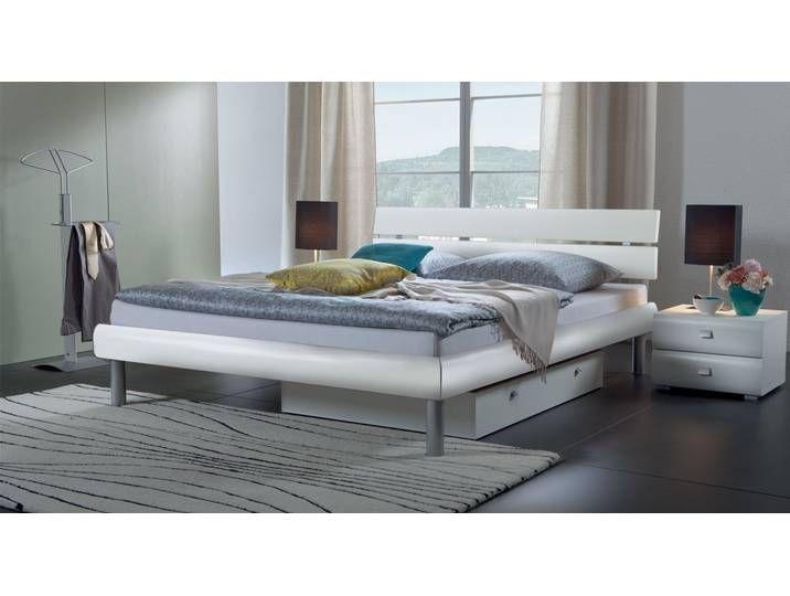 Modernes Designerbett Diego 100x200 Cm Weiss Fusshohe 20 Cm Betten De Bett Bett Modern