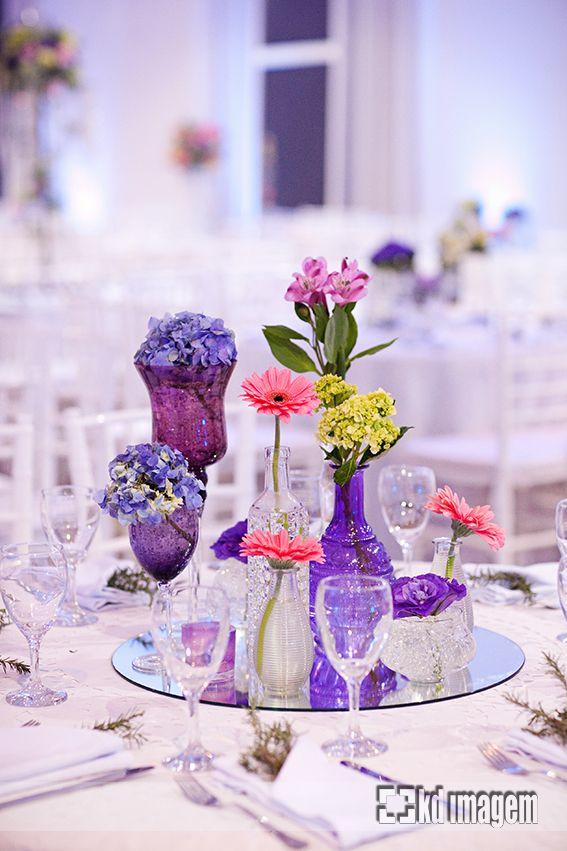 Azul, lilás e rosa