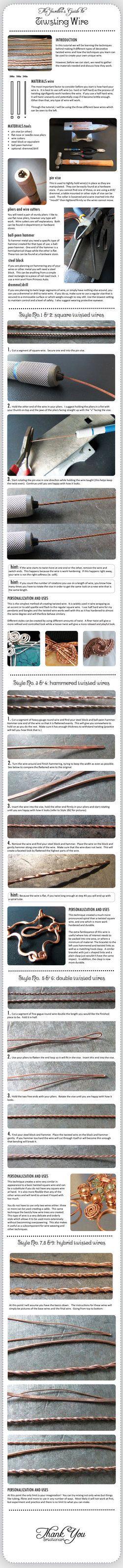 wire twisting technique