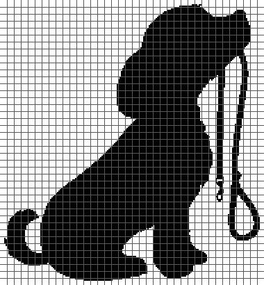 Dog with Leash (Graph AND Row-by-Row Written Crochet Instructions) - 03