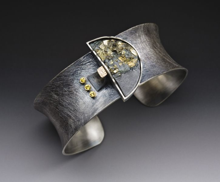 Pyrite in slate cuff
