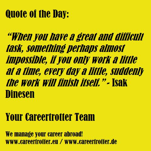 Finish Work Quotes: 17 Best Images About Career Related Quotes Of The Day On