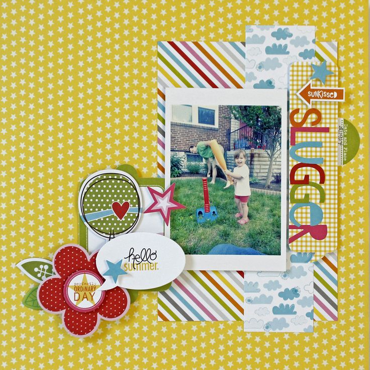 Sunkissed Slugger - Scrapbook.com - Made with Bella Blvd supplies.