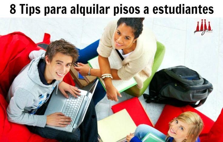 8 tips para alquilar pisos a estudiantes. #pisoalquiler #barcelona #consejos #compartir http://gaudi-house.es/