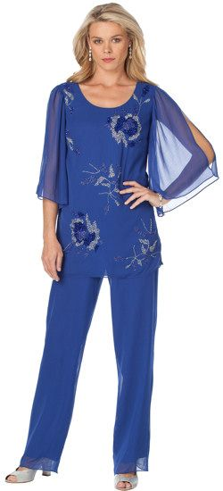 Plus Size Formal Pant Suits and Plus Size Cocktail Pants Suits are a great option if you need to go to a dressier event, a dressy wedding or even for a cruise.