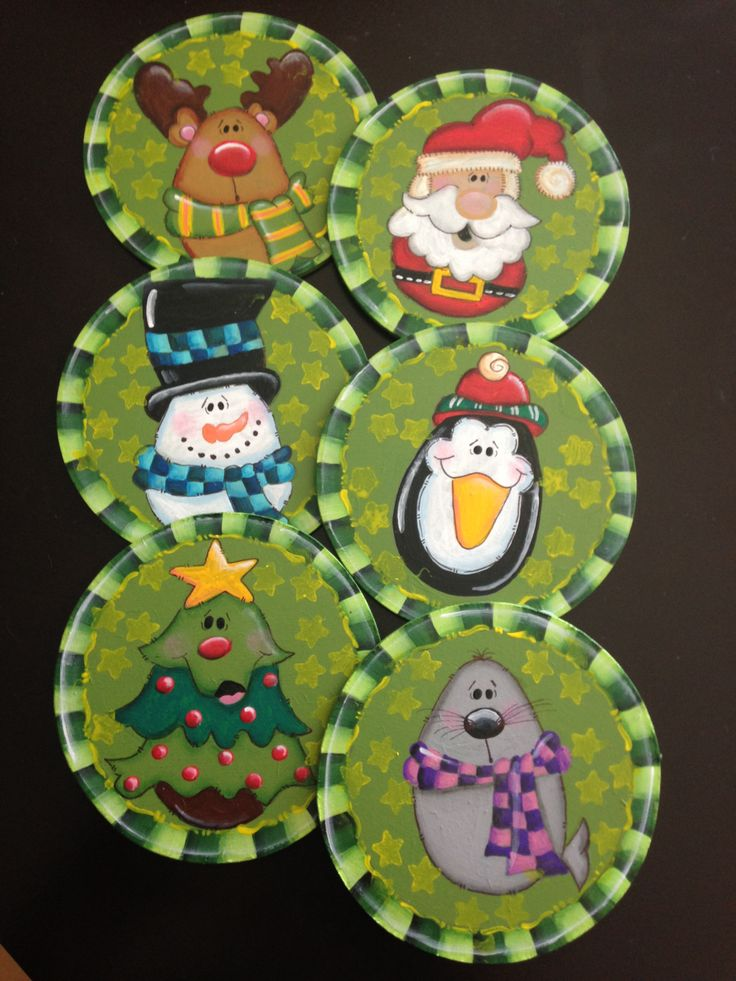 Juego de portavasos navideños Christmas friends