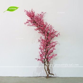 Gnw Bls1606002 Gl001 High Quality Wood Artificial Cherry Blossom Tree Branch For