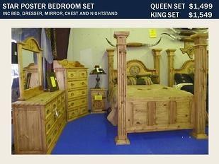 Rustic Furniture Depot Star Poster Bedroom Set