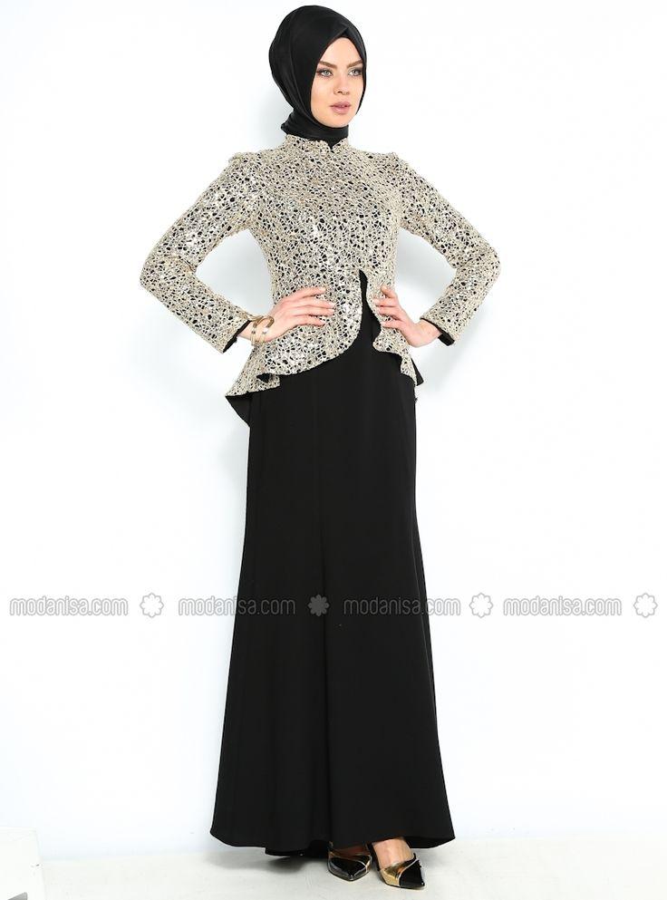 I peple Evening Dress - Black - Azra Ozer