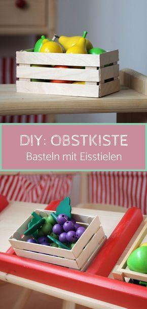 diy kaufladen obstkiste selber bauen kinderzimmer kaufladen wolle kaufen und basteln. Black Bedroom Furniture Sets. Home Design Ideas