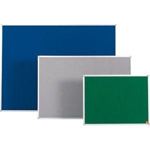 Tablero de anuncios económico, tapizado textil de 12 mm. con marco de aluminio.  Ideal para fijar cualquier documento con chinchetas o agujas.