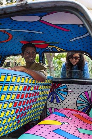 With their funding in place, Taxi Fabric is producing many more of these gorgeous cabs. | This Beautiful Mumbai Taxi Is A Celebration Of Peace Between India And Pakistan