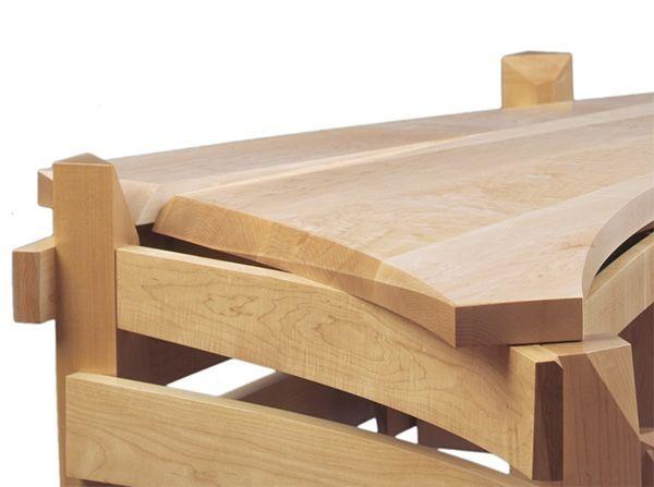 solid wood desk created by nico yektai